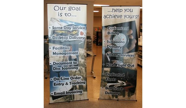 BS011 - Custom Banner Stand for Professional Services