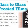 Businesses Can Add a Touch of Class With Frosted Glass